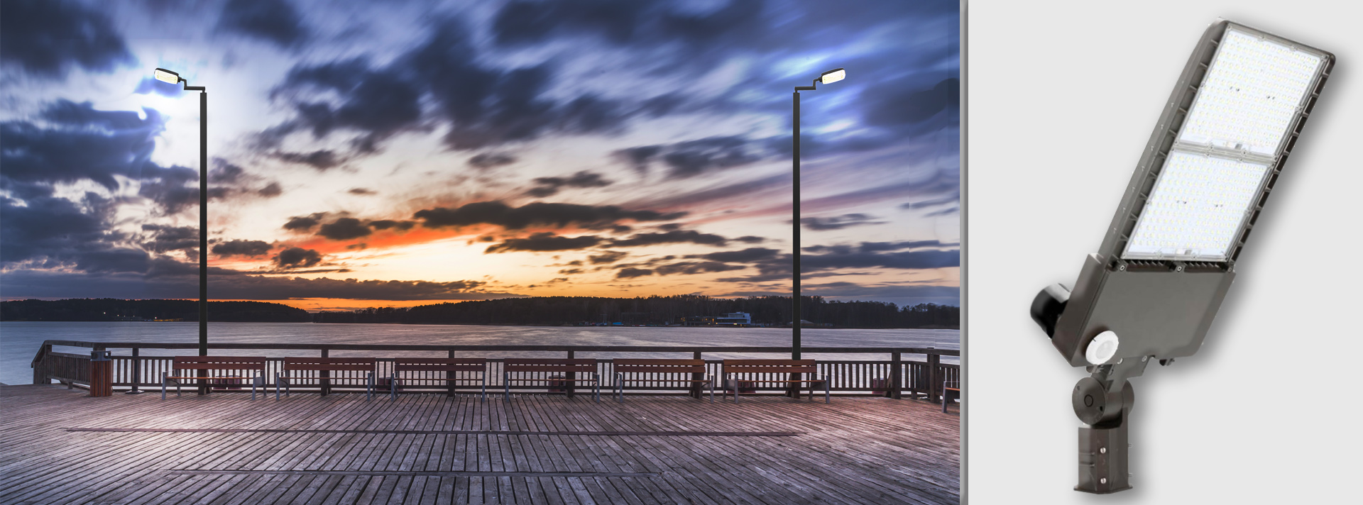Outdoor Lighting example on a boardwalk