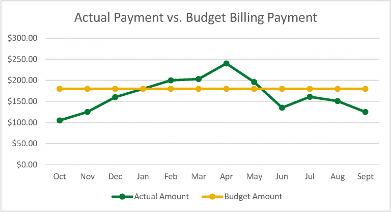 actual vs budget billing graph