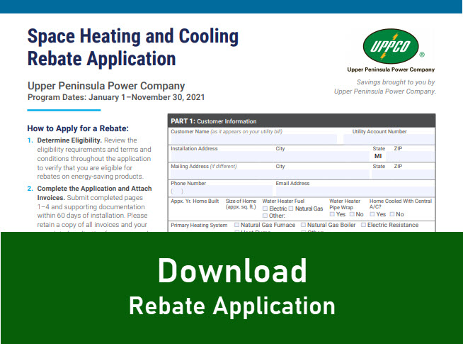 thumbnail image of Space Heating and Cooling Rebate Application